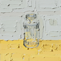 KATHRYN HAUG - Jar on Yellow #3