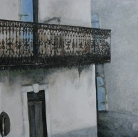 ANNE WALMSLEY - Lace balcony with stop sign