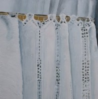 ANNE WALMSLEY - Embroidered curtain