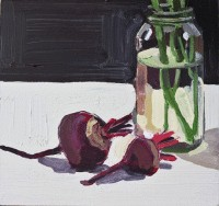 KATHRYN HAUG - Beetroot and Vase with Stalks