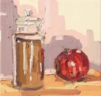 kathryn-haug-pomegranate-and-jar-of-linseeds