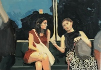 ELLEN NORRISH - 'On the train with Marie and Ro'