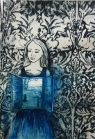 SHANA JAMES - Internal (with William Morris wallpaper)